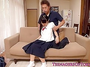Japanese teen pussyfucked greatest extent wide perpetual