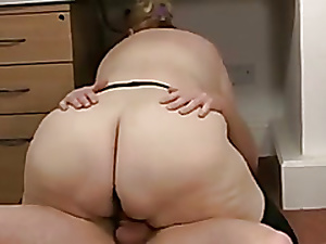 BBW Granny Fucks The brush Servant