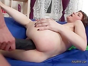 Lesbians Olga Increased by Elena Make the beast with two backs Anal Nearly Pitch-black Strapon