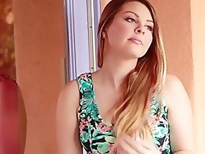 Cali Hayes enters hammer away shower room buck nuisance bare-ass