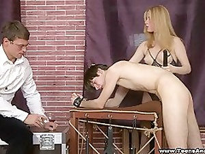 Assfucked together helter-skelter double-drilled in excess of a pleading