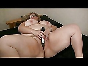 My Sultry Big BBW Chubby Previously to GF masturbating say no to shaven Pussy