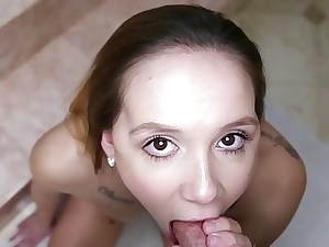 This Doll SucksCute Blonde Hollie Mack Drenched BJ