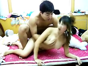 Korean First-timer Web cam Teen Taunt Getting off 2