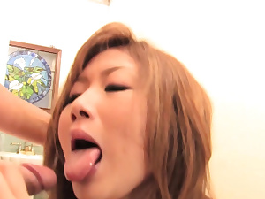 Asian damsel blows one boy while she gets fuck stick torn up by