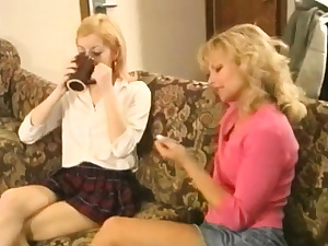Young and elder femdom lezzie discipline and smacking