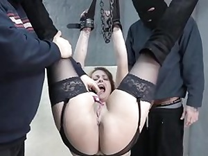 Cock-squeezing up honey dressed in her marvelous lingerie gets beaver manhandled rough