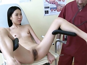 Alluring dark haired beauty Mey gets hard core therapy