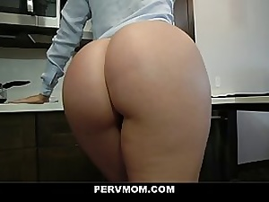 Racy, towheaded mommy is giving a Pov fellatio to her step- son-in-law and getting romped very stiff