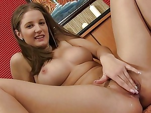Lovable sweetheart gets her shaved beaver pounded